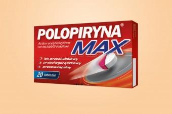 Polopiryna Max, 20 tabletek, aspiryna, tabletki dojelitowe