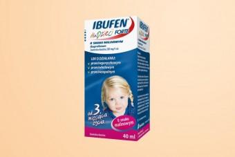 Ibufen dla Dzieci Forte, smak malinowy, 200 mg/ 5ml, zawiesina od 3 miesiąca, 40 ml, ból i gorączka
