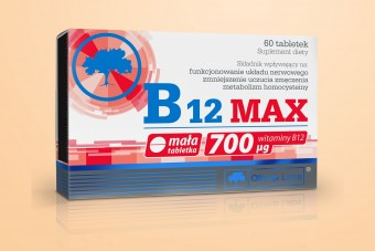 B12 Max 700 μg, Olimp, witamina B12, 60 tabletek