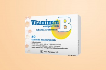 Vitaminum B compositum, witamina B complex, 50 tabletek, Polfa