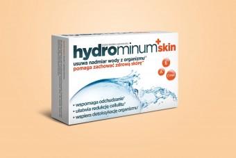 HYDROMINUM + SKIN, tabletki na wodę w organizmie, 30 tabletek Hydrominum
