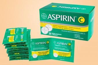 Aspirin C, 20 tabletek musujących, aspiryna bayerowska