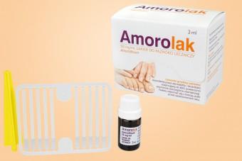Amorolak, skuteczny lakier na grzybicę paznokci u stóp, na grzybicę paznokci u rąk, bez recepty, 3 ml