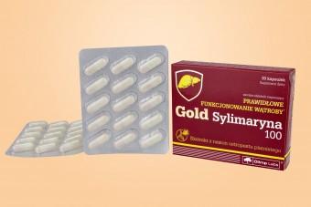 Gold Sylimaryna 100, olimp na wątrobę, sylimaron, sylimaryna 100 mg