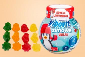 Vibovit Zimowe Żelki, 50 sztuk, smak owocowy, witaminy w żelkach dla dzieci