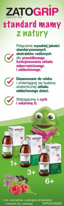 Zatogrip - syropy dla dzieci w różnych przedziałach wiekowych