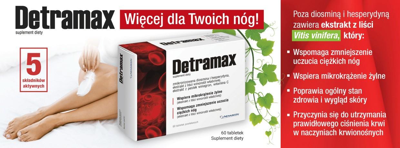 Detramax tabletki i dwa żele gratis