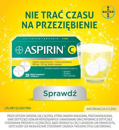 Aspirin C Bayer - lek na objawy przeziębienia