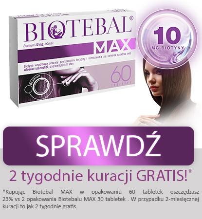 Biotebal Max, biotyna 10 mg, 60 tabletek